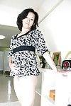 Bawdy Chinese MILF Aya Sakuma undressing and exposing her holes