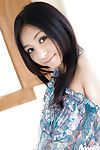 Joyful Japanese coed Aino Kishi ucovering her graceful body