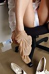 Seductive Chinese office girl Mai Haruna striptease off her clothing