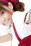 Skinny eastern adolescent dear Misa Kikouden slipping off her