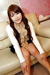 Smiley Japanese lass Shiho Nakagawa undressing and swelling her legs
