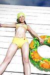 Appealing Japanese dear with hirsute fur pie Yui Hasumi erotic dance off her bikini