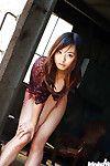 Fabulous Japanese adolescent Hikaru Koto revealing her miniature marangos and shaggy bawdy cleft