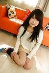 Upskirt posing from an brunette hair Eastern amateur cutie Maki Hagita