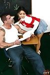 Young Oriental milf Mika Tan enjoys hardcore anal digging in the classroom