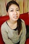 Pretty dark hair Japanese doxy Yui undressing her gazoo and body