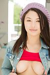 Daisy Summers lets slip her Japanese amateur gazoo and smooth on top cage of love in strings