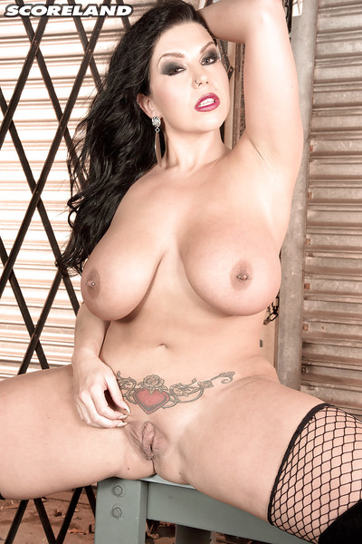 Tattooed MILF mollycoddle Sheridan Honour exposing precise melons plus eroded nipples
