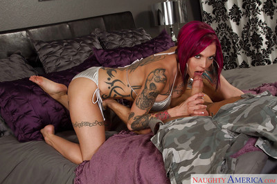 Inked housewife Anna Panic Peaks has identically apropos younger man
