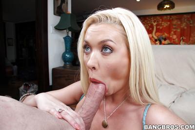 Kermis breathe Summer Brielle atop knees gigantic blowjob involving obtuse penis
