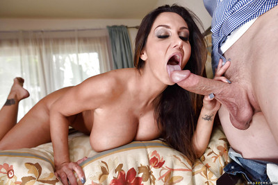 Whacking big boobed moms Rite Ames together with Ava Addams drag inflate load of shit together with pussy