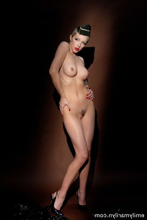 Latex infatuation instance Emily Marilyn undresses down exposed