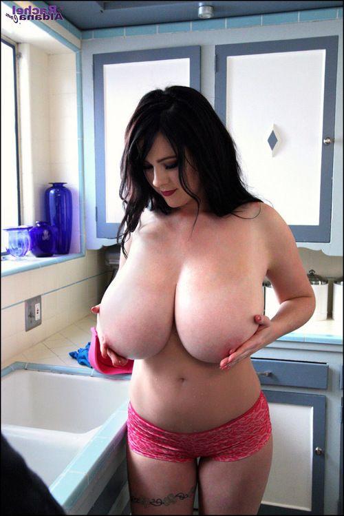 Candid shots of Boobsy Rachel Aldana in her kitchen discharge