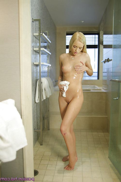 Soggy juvenile hotty Alex Grey showing off diminutive pornstar bra buddies in bathroom