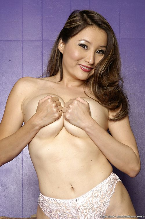 Juvenile Oriental solo hottie Kylie Rey wanking lately smooth on top slit