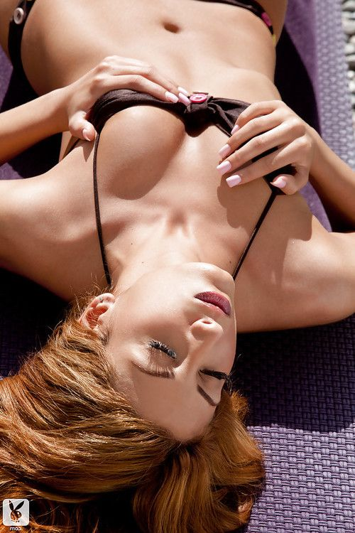 Hawt young with smooth head muff Layla Shah admirable off her bikini outdoor