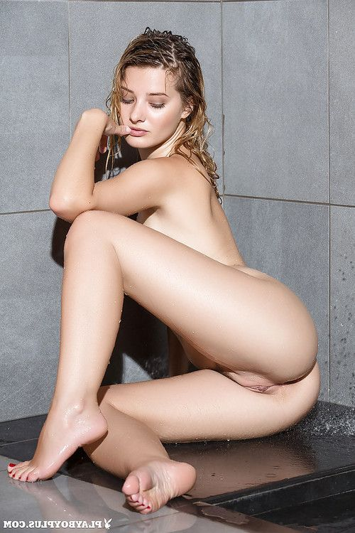 Marvelous fairy young Anna Tatu benefits from her enormous naturals moist in shower-room
