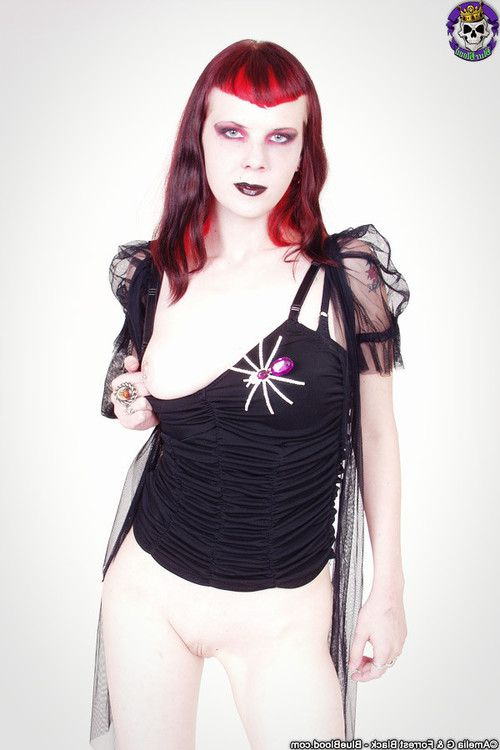 Ghostly goth szandora smooth head nude and exposed