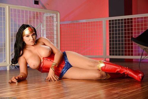 Cosplay adorned pornstar Romi Rain wanking exactly after loosing large whoppers