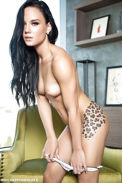 Angel centerfold Meghan Leopard shows her tattooed as was born shape