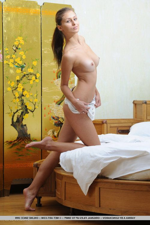 Nice-looking but bawdy Yarina hastily undresses her white night suit to creep her thin but nubile figure, with delicately fixed assets that can geared up your hearts racing.