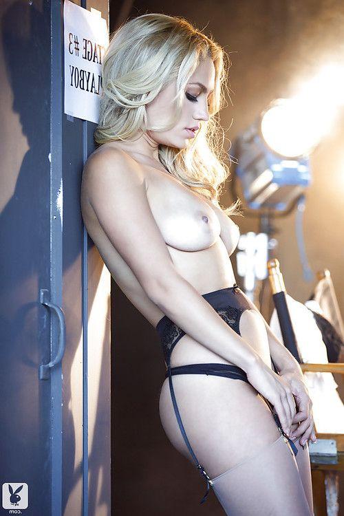 Nice-looking blond angel Jade Bryce slipping off her underware and