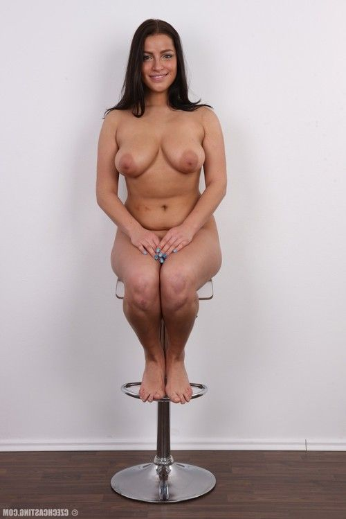 Large wife with huge breasts posing