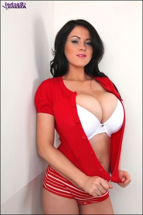 Candids of Boobsy Rachel Aldana in red Master and high heels