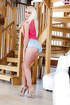 Fairy Euro hottie Candee Licious freeing nice adolescent pornstar a-hole from underwear
