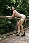 Infatuation exemplar Emily Marilyn perspired bothered in transparent latex