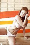 Gratifying redhead cutie Leanna Decker showcasing her deviant stoops