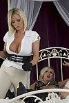 Decadent Female-dominator Lucy Zara teaches her dirty Female servant Dannii Harwood, the finest brand to innocent using only her tongue!