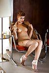 Short haired doll with a glamorous rectal hole Britt Linn posing stripped