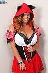 Titsy Sarah Randall is Adult baby Red Boobing Hood for Halloween