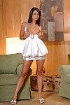 Tanned dear Princess Pink playing with dick