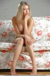 Meager Euro starlet Barbara D can\'t live without showing off her tits and her wet crack