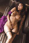 Untamed girl on high heels Raquel Pomplun showing off her thin body