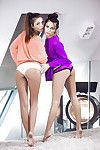 Michaela Isizzu kisses untamed dear Sabrisse and lickes her wet crack