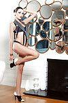 Erotic darling example Aleksa Slusarchi posing as mother gave birth in high heels