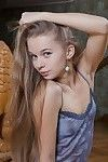 Miniature slender youthful with covert hair Milena D discloses her tense pink uterus