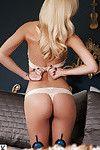 Platinum golden-haired dear Shera Bechard showcasing her jaw-dropping wild body