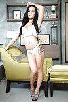 Angel centerfold Meghan Leopard shows her tattooed as was born shape