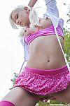 Solo in pink underware