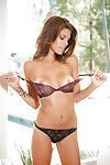 Fabulous model Amber Alexandria gradually erotic dancing off her underware