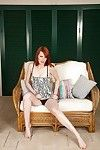 Extreme redhead hottie with miniscule milk shakes Leanne erotic dance and posing as was born