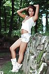 Outdoor posing session with a flawless centerfold queen Michaela Isizzu