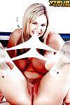 European solo darling Kelly Kay unleashing heavy pornstar pantoons in kitchen