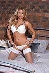 Jessy ruth undresses from her white underware