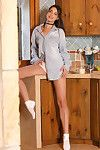 Glamour illustration Lorena B removing white underclothes to finger soaked beaver in socks