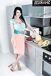 European centerfold pattern Sha Rizel flaunting advisable marangos in kitchen